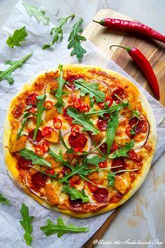 #1 pizza right now: pumpkin and chorizo!