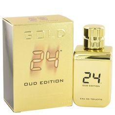 24 Gold Oud Edition by ScentStory Eau De Toilette Concentree Spray (Unisex) 3.4 oz