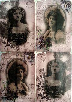 Rice Paper for Decoupage Scrapbooking Sheet Craft Vintage Romantic Ladies