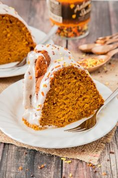 My Pumpkin Bundt Cake is soft, sweet and spicy. Filled with a whole can of pumpkin and topped with a creamy cinnamon cream cheese glaze.