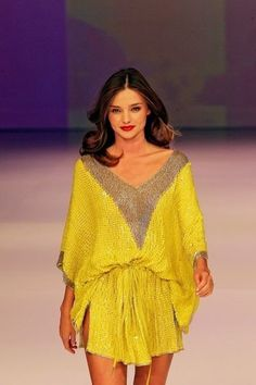 Kaftan by Camilla Franks. Note length and contrast V neck panel.