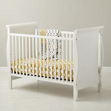 Baby Cribs: Baby White Sleigh Crib in Cribs & Bassinets | The Land of Nod
