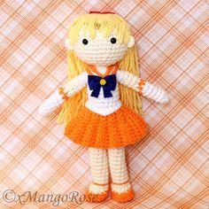 Sailor Venus Plush Amigurumi Doll Crochet Pattern by xMangoRose $7.99