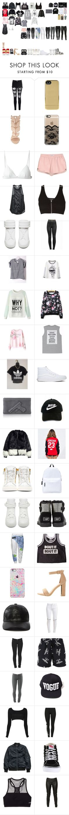 """Packing for Roommates"" by kaelighoffical ❤ liked on Polyvore featuring Glamorous, Incase, Giuseppe Zanotti, Casetify, T By Alexander Wang, Elizabeth and James, Forte Forte, rag & bone, Maison Margiela and Hood by Air"