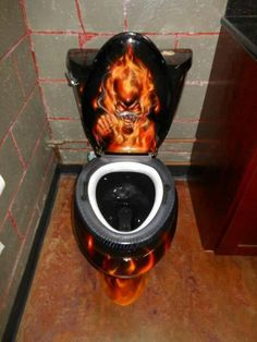Well that is one hot toilet, wouldn't you say?