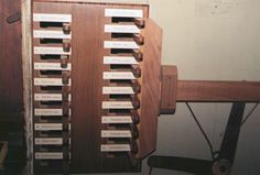 Les manettes des jeux de l'orgue Concone