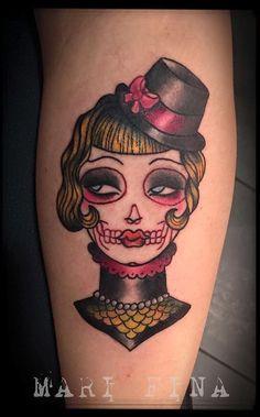 Done yesterday ! Tattoo Artist : Mari Fina Tribute to Angelique Houtkamp!❤ Tribute to You ,Elena! È stato un piacere passare una domenica a tatuarti.   Tatuaggio traditional http://www.subliminaltattoo.it/prodotto.aspx?pid=08-TATTOO&cid=18  #marifina   #subliminaltattoofamily   #oldschool   #neotraditional   #tatuaggio   #tribute   #angeliquehoutkamp   #tattooartist   #tattoo   #tatuaggio