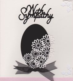 Heartfelt Sympathy Cards, Cute Cards, Decorative Plates, Card Making, Black And White, Ideas, Home Decor, Blanco Y Negro, Decoration Home