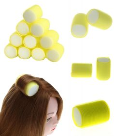 [Visit to Buy] 10pcs/set Self-Adhesive Hair Rollers Hairdressing Magic DIY Barber Styling Tools Roller Plastic Hair Curlers Easy Make Curls Kit #Advertisement