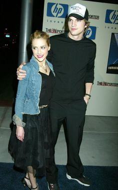 Brittany Murphy and Ashton Kutcher walked the red carpet together in 2003.