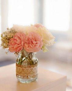 10 ideias de reciclagem potinhos de vidro flores decoração casa festas casamento chá de bebe aniversario batizado