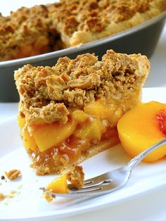 Streusel-topped peach cobbler; you can use any fruit. But imagine fresh peaches......baked in this topping, coming out of the oven warm...mmmm