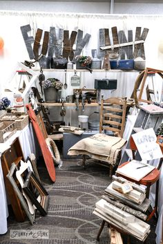 Funky Junk Interiors tips on setting up a booth at a Craft Faire
