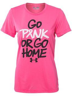 Under Armour Women's Go Pink Tee $27.99