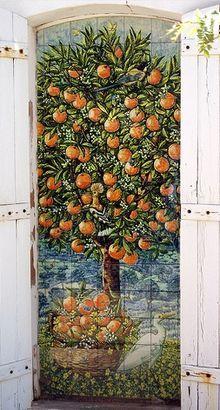 Beautiful tile mural in Algarve, Portugal