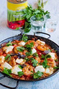 Creveti saganaki - Din secretele bucătăriei chinezești Kuching, Yummy Food, Tasty, Chinese Food, Paella, Recipies, Food And Drink, Healthy Eating, Meat