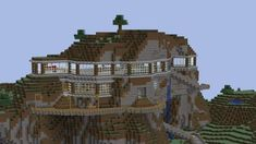 Mountain House - Explore the best and the special ideas about Minecraft Skins Minecraft Mods, Plans Minecraft, Minecraft Villa, Minecraft Kunst, Modern Minecraft Houses, Minecraft Structures, Minecraft House Tutorials, Minecraft Houses Survival, Minecraft House Designs