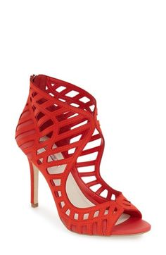 Free shipping and returns on BCBGeneration 'Drita' Sandal (Women) at Nordstrom.com. Gorgeous cutouts framed in meticulous tonal stitching define this show-stopping nubuck sandal set atop a wrapped setback stiletto.