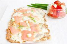 LowCarb Flammkuchen mit Lachs – Low Carb Köstlichkeiten