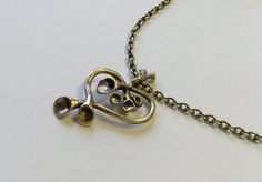 """Vintage Valo-Koru """"Reindeer Moss"""" Bronze Pendant and Chain, Hannu Ikonen, Finland (F112) by LifeUpNorth on Etsy"""