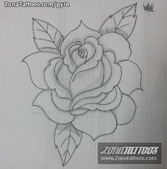 Diseño/Plantilla tatuaje Flores
