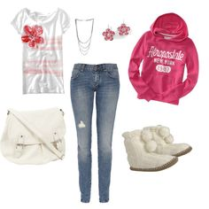 This is definitely our Princess style with her Ugg boots. She <3 Aeropostale too!