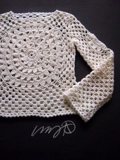 Crochet Sweater General Shaping Instructions Photo Tutorial - (omakoppa.blogspot)