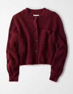 AE Slouchy Cardigan - - Source by Cute Teen Outfits, Casual Dress Outfits, Outfits For Teens, Fall Outfits, Fashion Outfits, Slouchy Cardigan, Dress With Cardigan, Maroon Cardigan, Sweater Cardigan