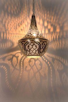 Chams orientalische Hängelampe silber Sultana