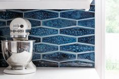 Hand-painted in over 120 glaze colors. Many shapes including: Subway/ Metro Tiles, Arabesque Tiles, Hexagons Tiles, Fish Scale tiles and more. Handmade Tiles, Handmade Ceramic, Kitchen Aid Mixer, Ocean, Ceramics, Gallery, Studio, Ceramica, Pottery