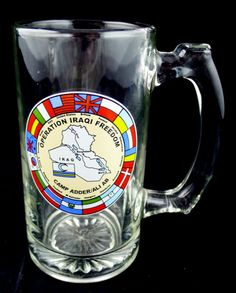 Original Operation Iraqi Freedom Stein Camp Adder Ali Ab World Flags Emblem