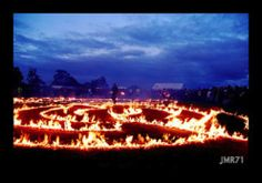 Adding an element of fire to a beach labyrinth. Amazing.