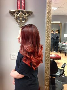 After Red Ombre Hair by Emilie Paula Tracy Hair Designs