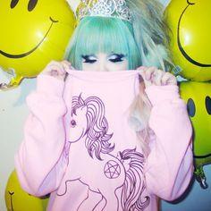 Nikki Lipstick - My Metal Pony Sweater Harajuku Girls, Harajuku Fashion, Harajuku Style, Steam Punk, Festivals, Goth Princess, Princess Closet, Unicorn Princess, Nikki Lipstick