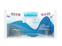 Liquid Telecom Exhibition Stand - front view