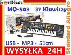 Organki Keyboard MQ-803 USB MP3 Mikrofon Zasilacz