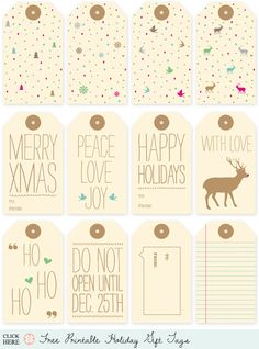 Cute Christmas Gift Tags  http://www.lovevsdesign.com/printables/free/holiday-gift-tags