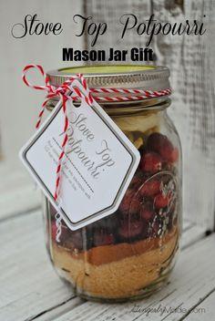 Stove Top Potpourri Mason Jar Gift   Gingerly Made