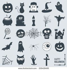 various halloween icons