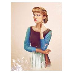 If Disney princesses were real ❤ liked on Polyvore featuring home, children's room, disney, people, cinderella and disney princesses