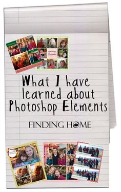 Tips for using Photoshop Elements