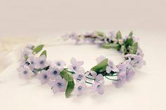 Lavender Floral Crown, flower  hair crown, Bohemian, Bridal, Light Purple Bridal Flowers, spring, flower girl, Bridesmaids-Emma