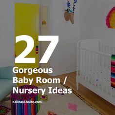 27 Gorgeous Baby Room / Nursery Ideas   Kalina's Choice Girl Room, Baby Room, Baby Boy Nurseries, Nursery Ideas, Room Ideas, Girls, Home Decor, Homemade Home Decor, Daughters