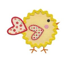 Rick Rack Chick Applique - 3 Sizes!   What's New   Machine Embroidery Designs   SWAKembroidery.com
