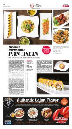 Arbor Bistro: Pan-Asian That Delivers|Epoch Taste #Food #newspaper #editorialdesign