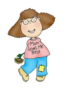 Free Dearie Dolls Digi Stamps: Mom Loves Me Best girl