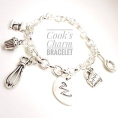Cook's Charm Bracelet, Gift for Cook, Charm Bracelet, Gift for Mom, Baking Gift, Bakery Gift, Cooking Charms, Gift for Grandma https://www.etsy.com/listing/534145517/cooks-charm-bracelet-gift-for-cook-charm?utm_campaign=crowdfire&utm_content=crowdfire&utm_medium=social&utm_source=pinterest