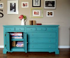 Picked & Painted: Dresser turned Media Stand