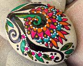 bloom / painted rocks / painted stones / Sandi Pike Foundas / Cape Cod