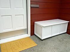 Hide Outdoor Clutter in This DIY Storage Bench
